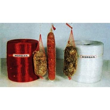 Rete in plastica per salumi e usi vari senza elastico, 80 fili, prezzi per confezioni da metri 1000 o 250.