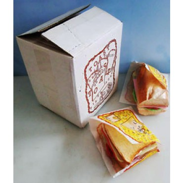 """Sacchetti prendipanino """"Speedy Snack"""", in carta politenata impermeabile all'uscita di liquidi, prezzi per confezioni da pz 1000."""