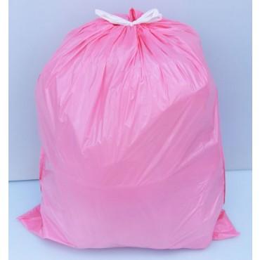 Sacchi profumati rosa NU con maniglie, cm 54x65, confezioni da 5 rotoli da pz 15.