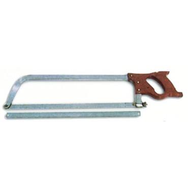 Sega da macellaio ad arco in acciaio extra - non inox - con attacco a vite.