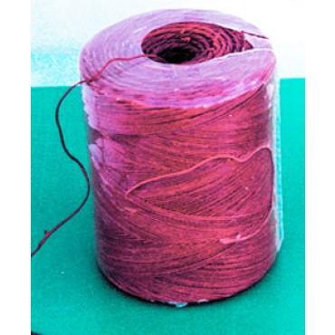 Spaghi in canapa naturale rossi, confezionati in bobine da kg. 3.