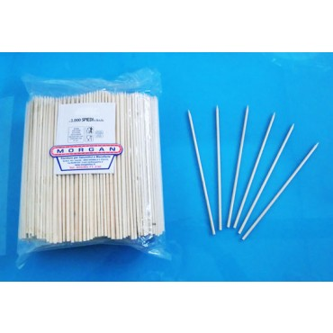 Stecchini-spiedini in legno di betulla, lungh. cm. 20, spess. mm. 3,5, prezzi per conf. 1000 pz.