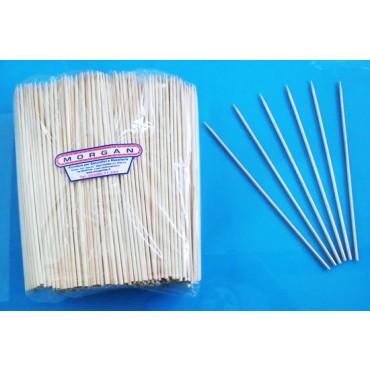 Stecchini-spiedini in legno di betulla cm 25, spessore mm 3,5, prezzi per conf. da 1000 pz.
