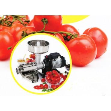 Spremipomodoro elettrico con possibilità di applicare i seguenti accessori: tritacarne, grattugia, torchio per pasta, impastatrice.