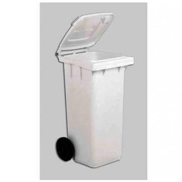 Contenitore industriale in plastica bianco, lt. 240, cm. 73x58xH107, prezzi cad.