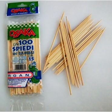Stecchini-spiedini in bambù Osaka cm 15, spessore mm 2,5, confezioni da pz 100.