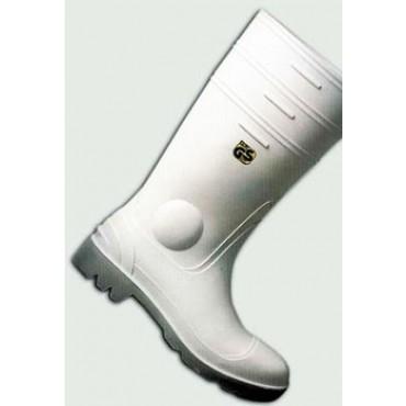 Stivali sottoginocchio in gomma bianchi, con puntale antinfortunistico e rinforzato, prezzi per 1 paio.