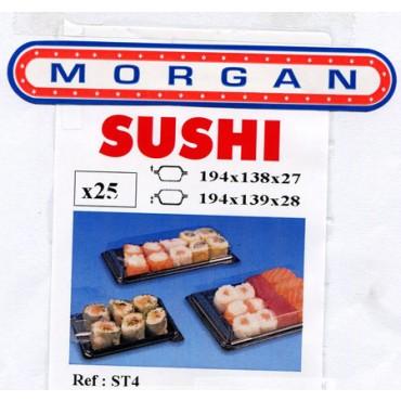 Vaschette da gastronomia per Sushi di carne, Sushi di pesce, cibo cinese, con coperchio staccato, di  forma rettangolare.