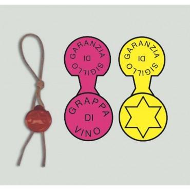 Sigilmorgan tondi per vari usi mm 15x35, personalizzati, per prodotti alimentari, abbigliamento, industria conserviera, profumerie, erboristerie.