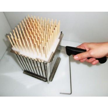 Taglia arrosticini - cubo - in acciaio inox con sportello apribile - prezzi in offerta.