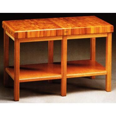 Taglieri a bancone in legno di acacia selezionato, con sgabello in legno a 6 gambe e ripiano inferiore - PREZZI DA SCONTARE DEL 10%.