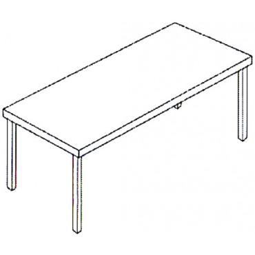 Tavoli da lavoro modello standard in acciaio inox AISI 304, per ristorazione, catering, supermercati e lavorazioni alimentari.