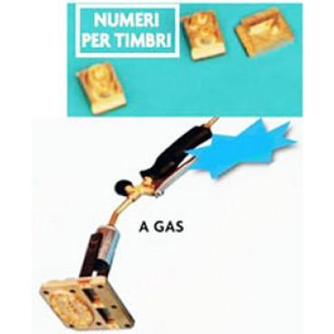 Timbri a fuoco a gas in ottone con marchio o/e datario