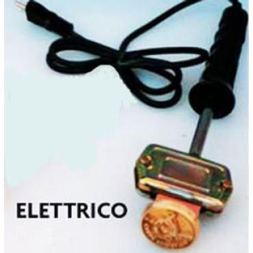 Timbro a fuoco in ottone per tutti gli usi, con bruciatore elettrico.