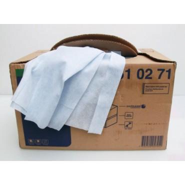 Panno in TNT 300 panni con scatola distributrice (cm 38x42) per pulizia banchi, affettatrici, attrezzature varie.