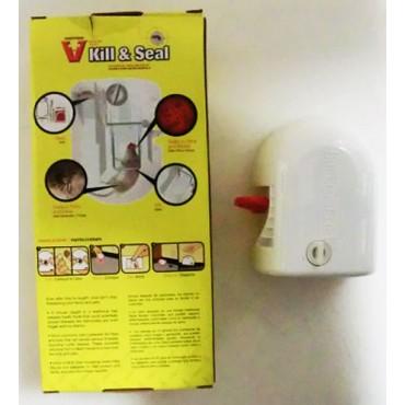 Trappola per topi igienica in plastica bianca, made in U.S.A., senza veleno, prezzi per confezioni da 2 pezzi.