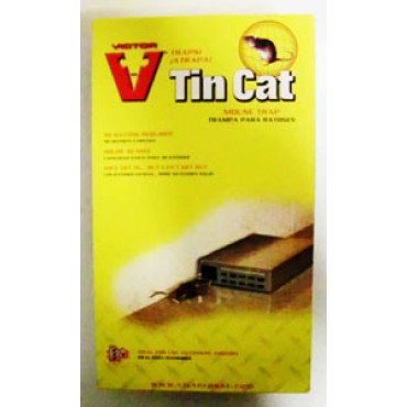 Trappola per topi a scatto TIN CAT, senza veleno, di forma quadra, made in U.S.A., prezzi per confezioni da 1 pezzo.