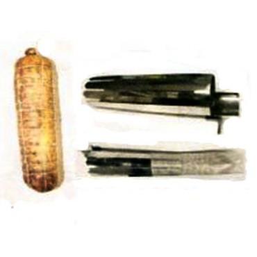 Insaccatrici per pancette in acciaio inox, per insaccare pancette di suino con budello sintetico Fibrous.