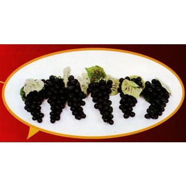 6 grappoli di uva x 51 nera finta cm 16 (prezzo per 6 grappoli di uva x 51 nera)