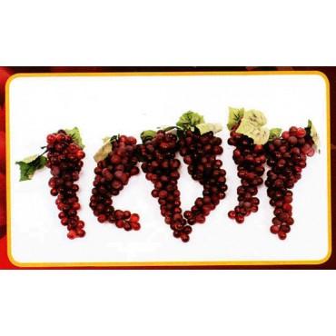 6 grappoli di uva x 90 rossa finta cm 28 (prezzo per 6 grappoli di uva x 90 rossa)