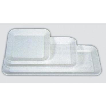 Piatti/vassoi in plastica antiurto a iniezione (non ricavati da lastra intera), con bordo svasato, prezzi cad.