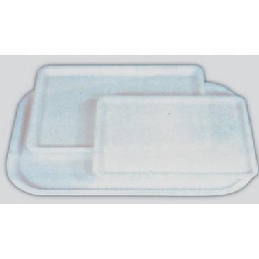 Vassoi in plastica antiurto a iniezione (non ricavati da lastra intera), con bordo dritto, prezzi cad.
