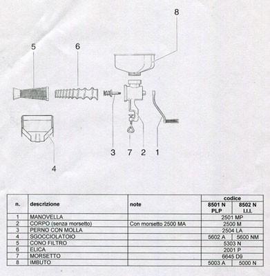 REBER ricambio paraspruzzi inox per spremipomodoro 5 5603L