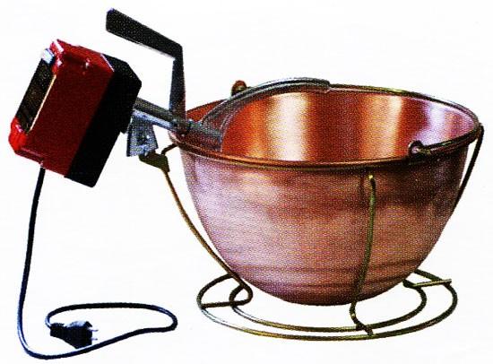 Paiolo elettrico rame per polenta lt 9 diametro 33 cm w - Lavatrici piccole dimensioni 33 cm ...