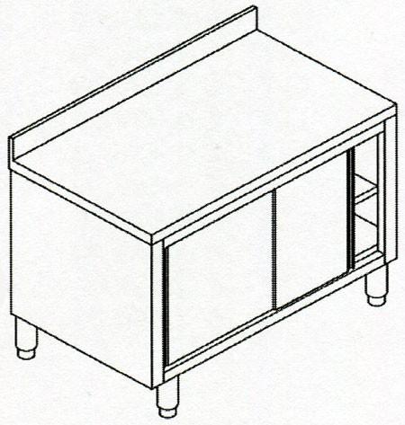 Tavoli armadiati in acciaio inox aisi 304 con ante - Tavoli inox per ristorazione ...