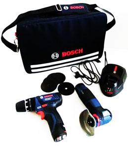 Valigia bosch con utensili professionali blu a batteria for Attrezzature zootecniche usate
